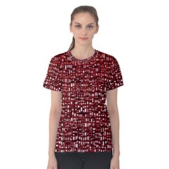 Red Box Background Pattern Women s Cotton Tee