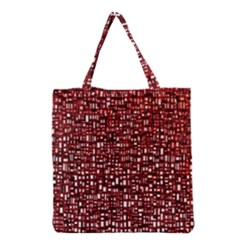 Red Box Background Pattern Grocery Tote Bag