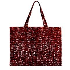 Red Box Background Pattern Zipper Mini Tote Bag