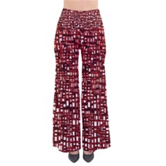 Red Box Background Pattern Pants