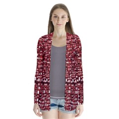 Red Box Background Pattern Cardigans