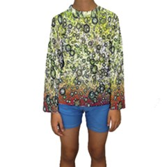 Chaos Background Other Abstract And Chaotic Patterns Kids  Long Sleeve Swimwear
