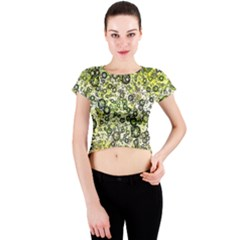 Chaos Background Other Abstract And Chaotic Patterns Crew Neck Crop Top