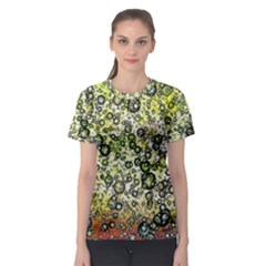 Chaos Background Other Abstract And Chaotic Patterns Women s Sport Mesh Tee