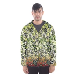 Chaos Background Other Abstract And Chaotic Patterns Hooded Wind Breaker (men)
