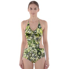 Chaos Background Other Abstract And Chaotic Patterns Cut-Out One Piece Swimsuit