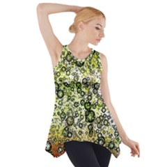Chaos Background Other Abstract And Chaotic Patterns Side Drop Tank Tunic