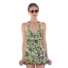 Chaos Background Other Abstract And Chaotic Patterns Halter Swimsuit Dress