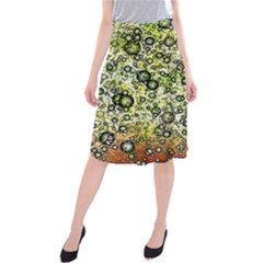 Chaos Background Other Abstract And Chaotic Patterns Midi Beach Skirt