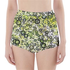 Chaos Background Other Abstract And Chaotic Patterns High-Waisted Bikini Bottoms