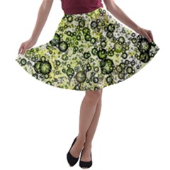 Chaos Background Other Abstract And Chaotic Patterns A Line Skater Skirt