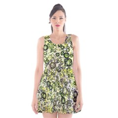 Chaos Background Other Abstract And Chaotic Patterns Scoop Neck Skater Dress
