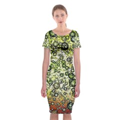 Chaos Background Other Abstract And Chaotic Patterns Classic Short Sleeve Midi Dress