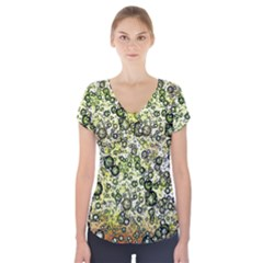 Chaos Background Other Abstract And Chaotic Patterns Short Sleeve Front Detail Top