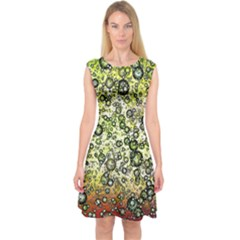 Chaos Background Other Abstract And Chaotic Patterns Capsleeve Midi Dress