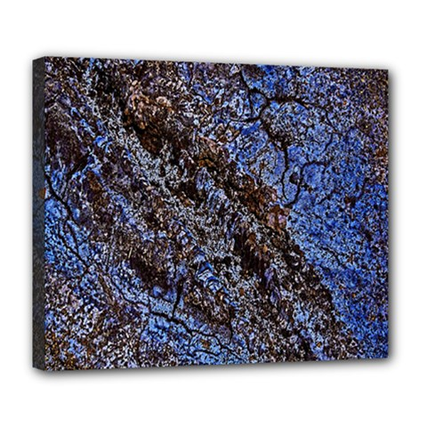 Cracked Mud And Sand Abstract Deluxe Canvas 24  x 20