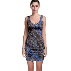 Cracked Mud And Sand Abstract Sleeveless Bodycon Dress