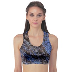 Cracked Mud And Sand Abstract Sports Bra