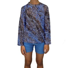 Cracked Mud And Sand Abstract Kids  Long Sleeve Swimwear