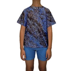 Cracked Mud And Sand Abstract Kids  Short Sleeve Swimwear