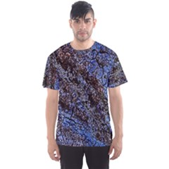 Cracked Mud And Sand Abstract Men s Sport Mesh Tee