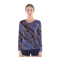 Cracked Mud And Sand Abstract Women s Long Sleeve Tee
