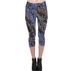 Cracked Mud And Sand Abstract Capri Leggings