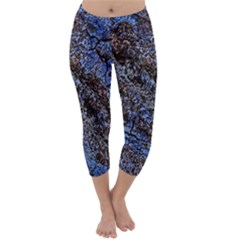 Cracked Mud And Sand Abstract Capri Winter Leggings