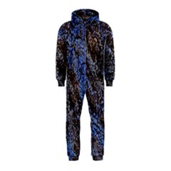 Cracked Mud And Sand Abstract Hooded Jumpsuit (kids)