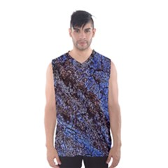 Cracked Mud And Sand Abstract Men s Basketball Tank Top