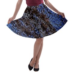Cracked Mud And Sand Abstract A Line Skater Skirt