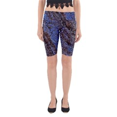 Cracked Mud And Sand Abstract Yoga Cropped Leggings