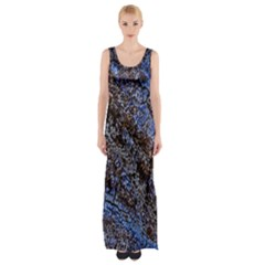 Cracked Mud And Sand Abstract Maxi Thigh Split Dress