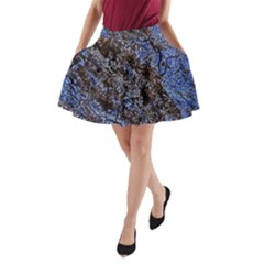 Cracked Mud And Sand Abstract A Line Pocket Skirt