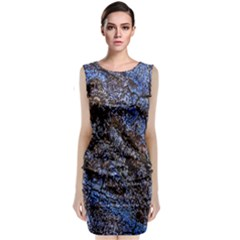 Cracked Mud And Sand Abstract Classic Sleeveless Midi Dress