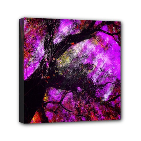 Pink Abstract Tree Mini Canvas 6  x 6
