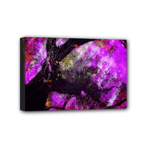 Pink Abstract Tree Mini Canvas 6  x 4