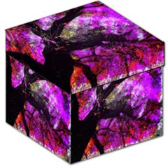 Pink Abstract Tree Storage Stool 12