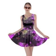 Pink Abstract Tree Skater Dress