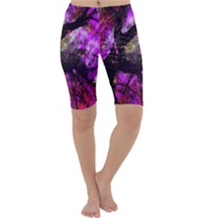 Pink Abstract Tree Cropped Leggings