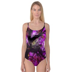 Pink Abstract Tree Camisole Leotard