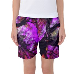 Pink Abstract Tree Women s Basketball Shorts