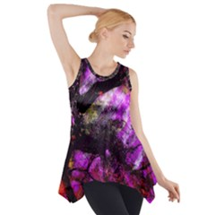 Pink Abstract Tree Side Drop Tank Tunic