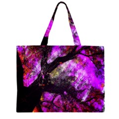 Pink Abstract Tree Large Tote Bag