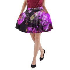 Pink Abstract Tree A-Line Pocket Skirt