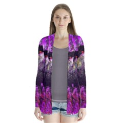 Pink Abstract Tree Cardigans