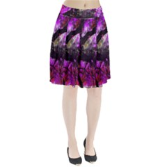 Pink Abstract Tree Pleated Skirt