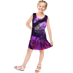 Pink Abstract Tree Kids  Tunic Dress
