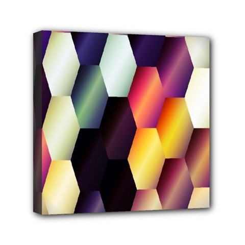 Colorful Hexagon Pattern Mini Canvas 6  X 6