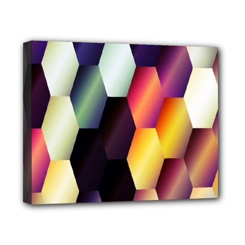 Colorful Hexagon Pattern Canvas 10  X 8